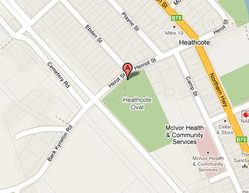 Heathcote Primary School's Location